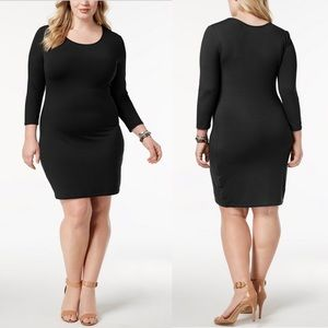 Say What ? Plus Size Bodycon Dress In Black